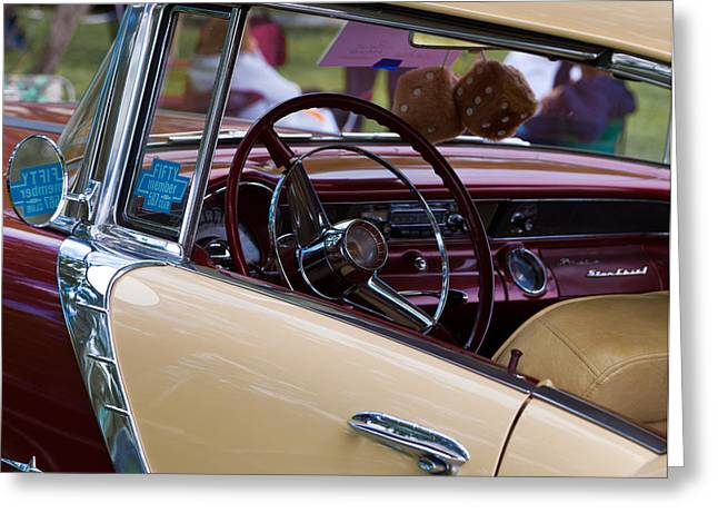 Classic American Car Greeting Card by Mick Flynn