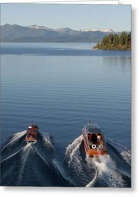 Classic Boats Of Lake Tahoe Greeting Card