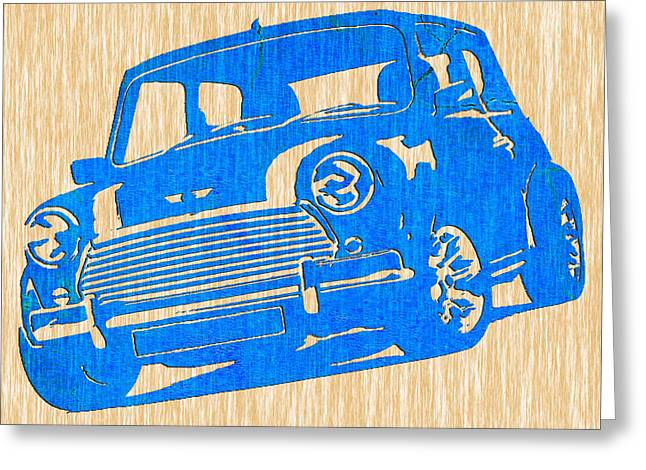 Classic Mini Cooper Greeting Card