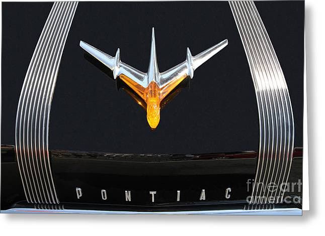 Classic Pontiac Hood Ornament Greeting Card