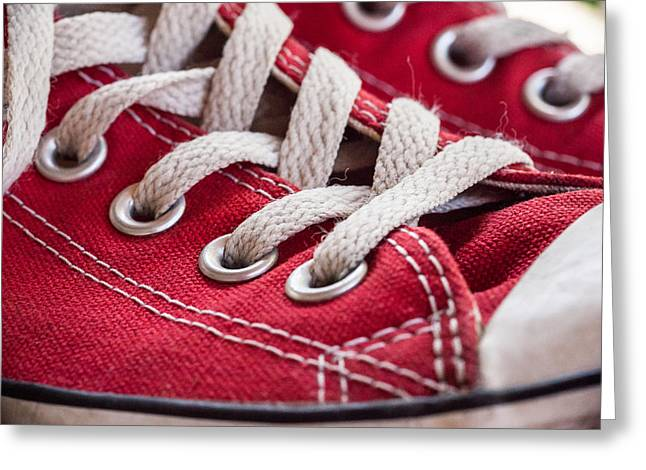 Classic Sneakers Greeting Card by Erin Cadigan