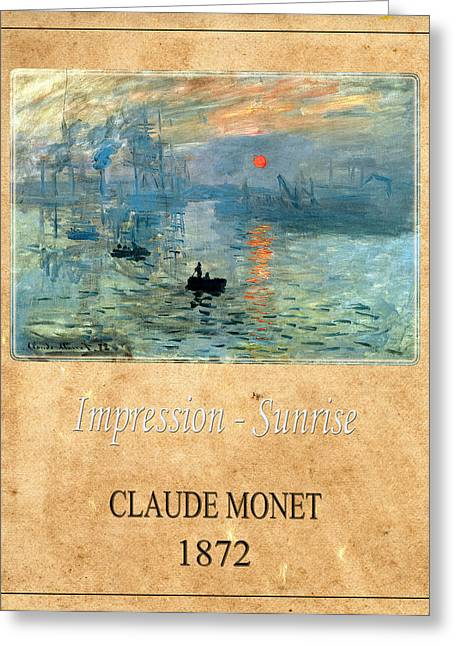 Claude Monet 2 Greeting Card by Andrew Fare