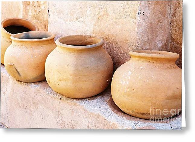 Clay Pots Greeting Card