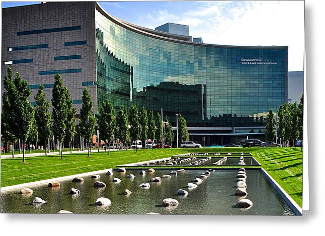 Cleveland Clinic Greeting Card by Frozen in Time Fine Art Photography