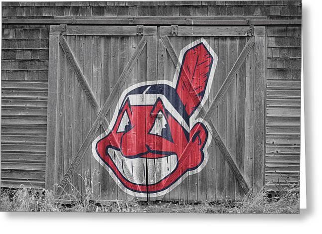 Cleveland Indians Greeting Card by Joe Hamilton