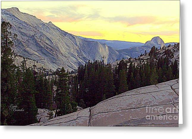 Cloud's Rest And Half Dome Greeting Card