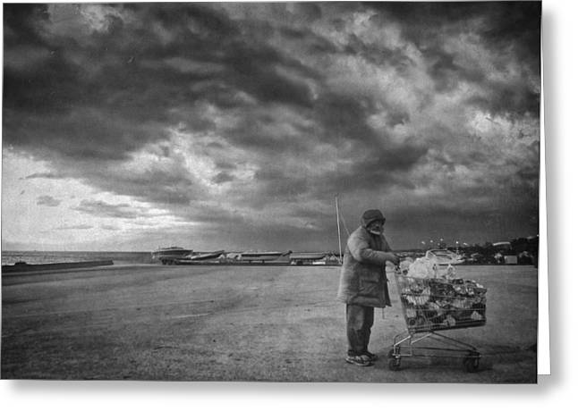 Cloudy Now Greeting Card by Taylan Apukovska