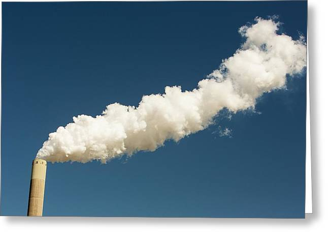Coal Fired Power Station Greeting Card