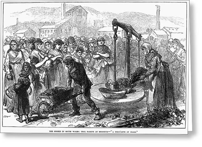 Coal Miners' Strike, 1873 Greeting Card