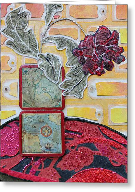 Coasters Greeting Card by Diane Fine