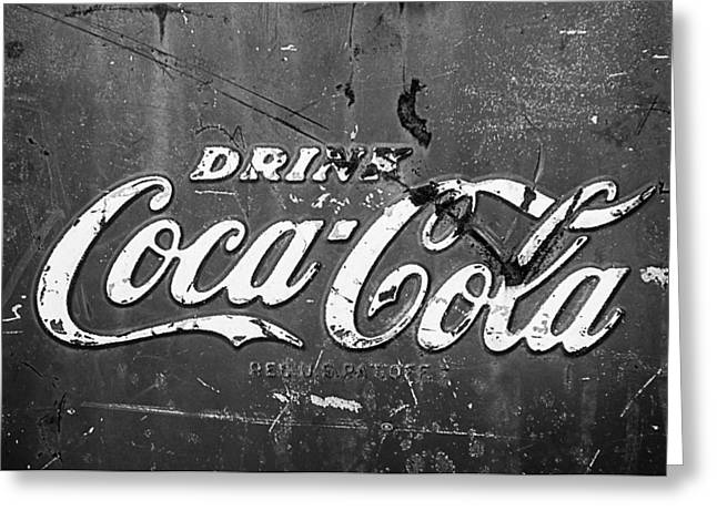 Coca-cola Sign Greeting Card by Jill Reger