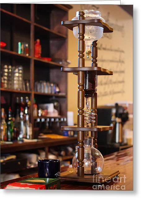 Cold Brew Coffee Tower  Greeting Card by Coertje Feil