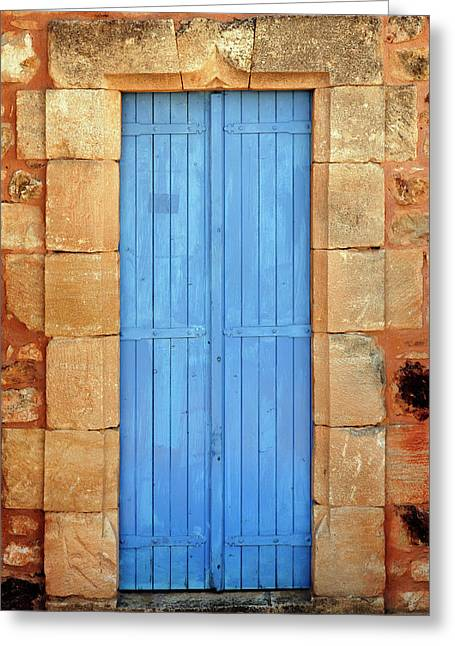 Color Door, Roussillon, France Greeting Card