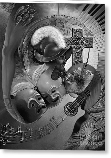 Color Y Cultura Greeting Card by Ricardo Chavez-Mendez
