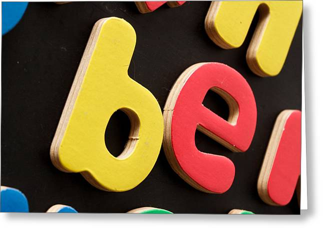 Colorful Letters Greeting Card by Tom Gowanlock