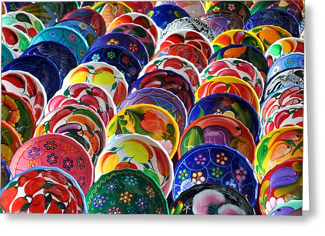 Colorful Mayan Bowls For Sale Greeting Card