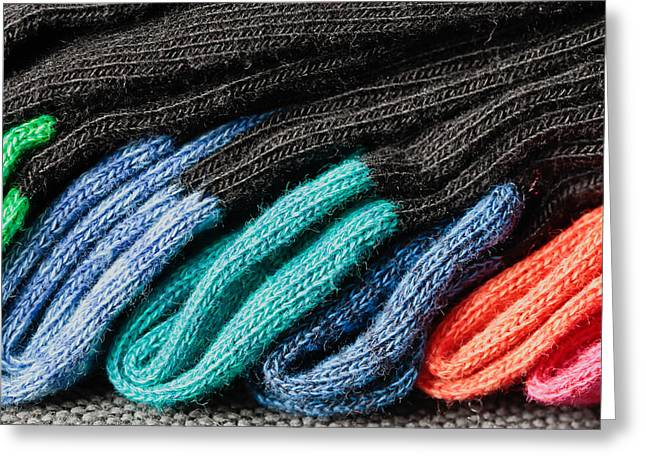 Colorful Socks Greeting Card by Tom Gowanlock