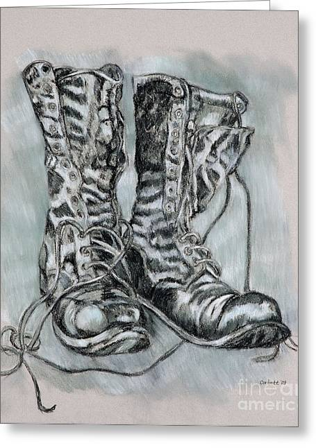 Combat Boots Greeting Card
