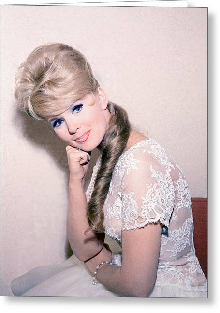 Connie Stevens Greeting Card by Silver Screen