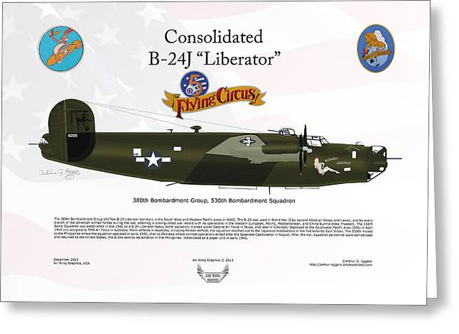 Consoldated B-24j Liberator Greeting Card