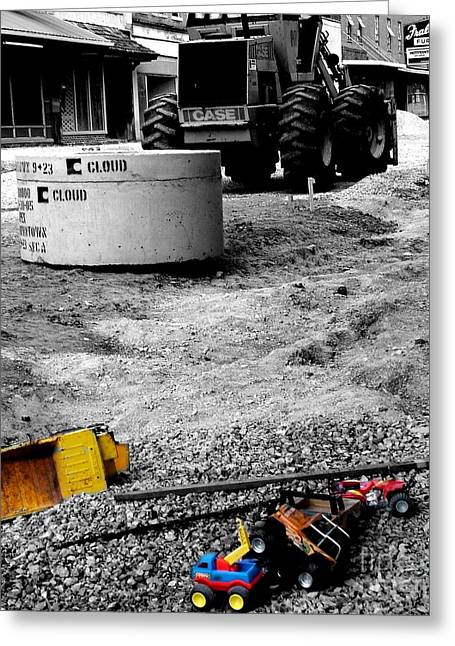 Construction Site Greeting Card by   Joe Beasley