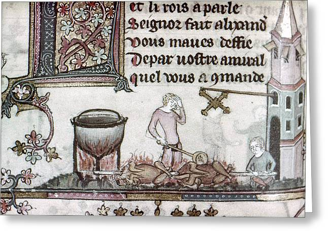 Cooks, 14th Century Greeting Card by Granger