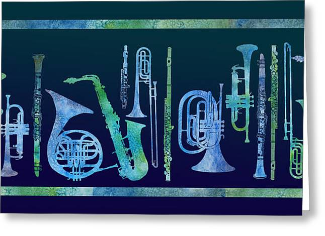 Cool Blue Band Greeting Card
