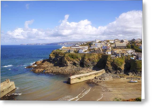 Cornwall - Port Isaac Greeting Card by Joana Kruse