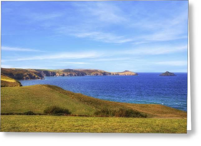Cornwall - Rumps Point Greeting Card by Joana Kruse