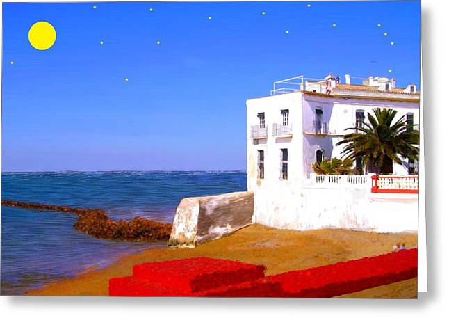 Cortijo On The Beach Greeting Card by Bruce Nutting