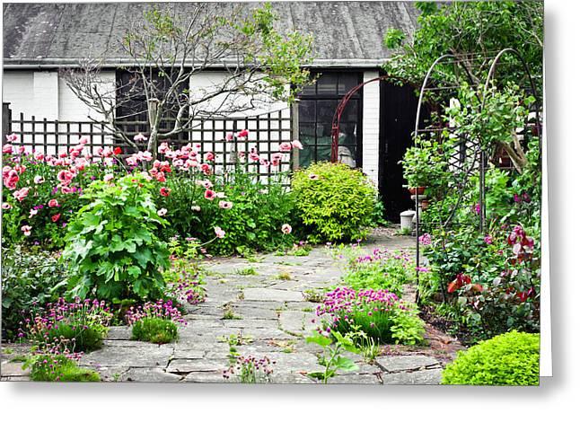 Cottage Garden Greeting Card by Tom Gowanlock