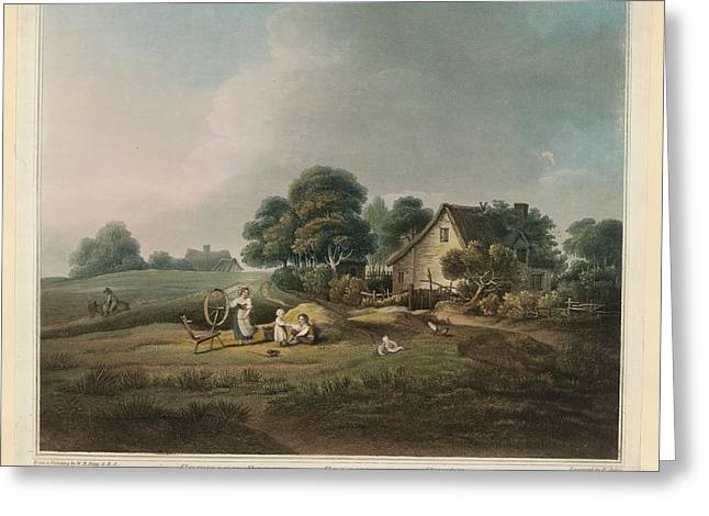 Cottage Scene Greeting Card by British Library