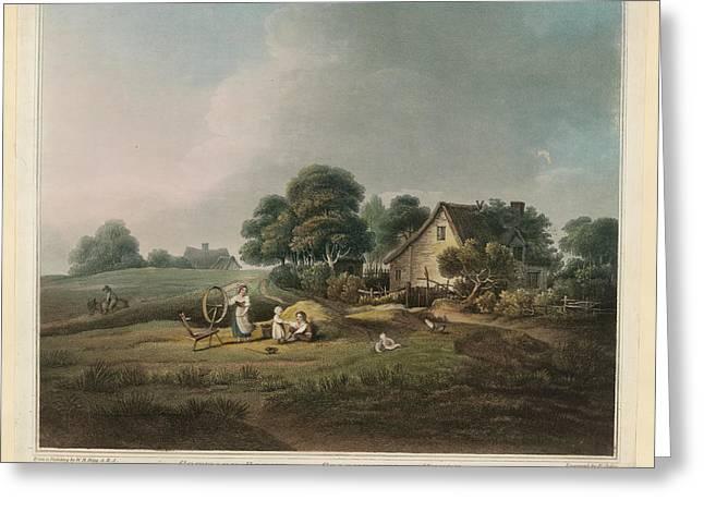 Cottage Scene Greeting Card
