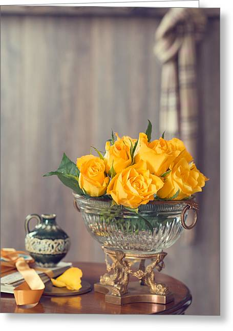 Country House Interior Greeting Card by Amanda Elwell