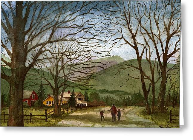 Country Lane  Greeting Card by Tim Oliver
