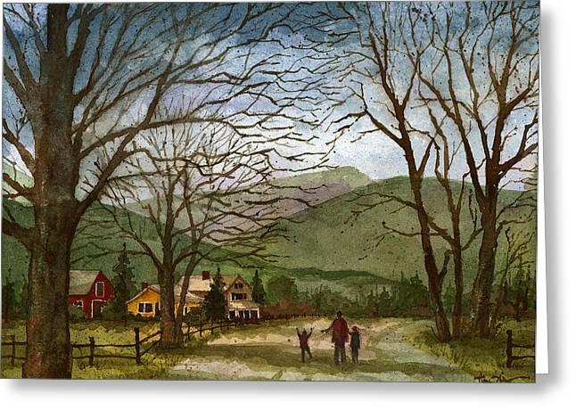 Country Lane  Greeting Card