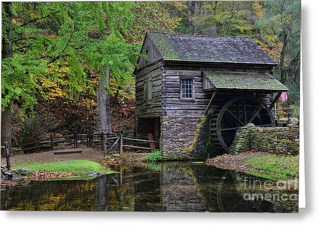Country Mill And Pond Greeting Card by Paul Ward