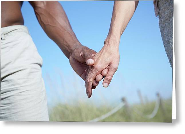 Couple Holding Hands Greeting Card