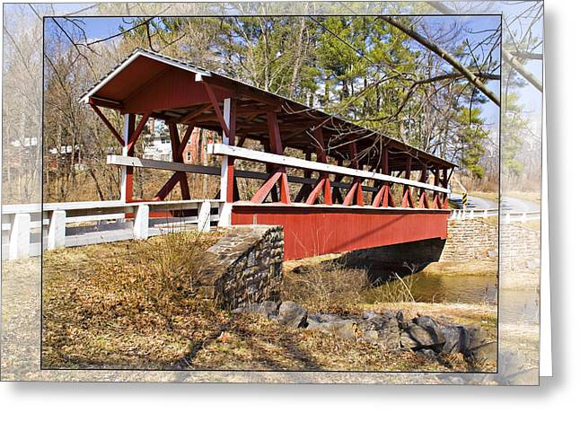 Covered Bridge In Pa. Greeting Card