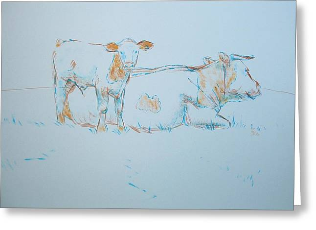 Cow Painting Greeting Card
