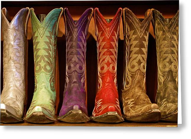 Cowboy Boots Greeting Card by John Babis