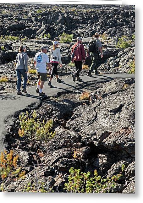 Craters Of The Moon Walking Tour Greeting Card by Jim West