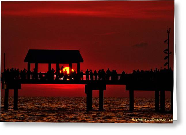 Greeting Card featuring the photograph Crimson Sunset by Richard Zentner