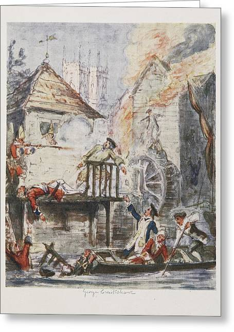 Cruikshank's Water Colours Greeting Card