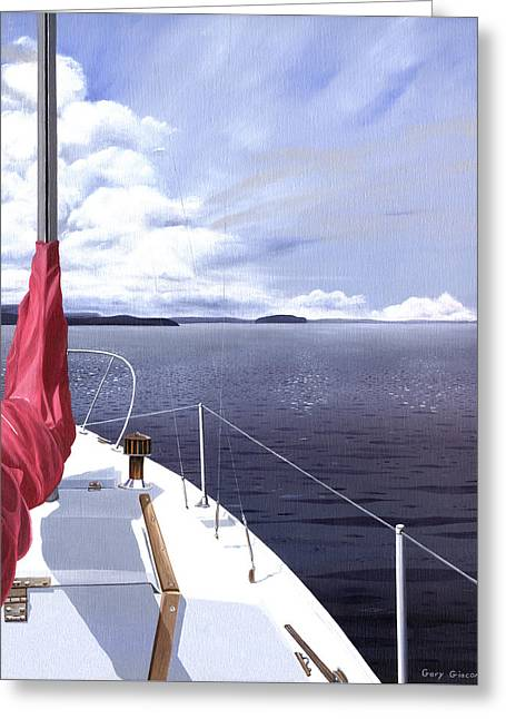 Greeting Card featuring the painting Cruising North by Gary Giacomelli