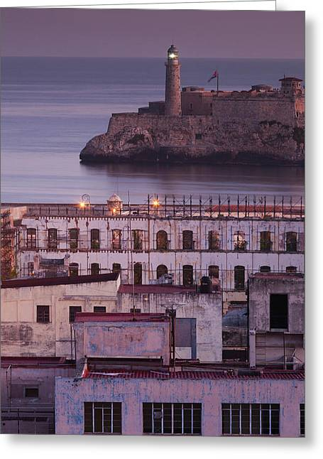 Cuba, Havana, Elevated City View Greeting Card