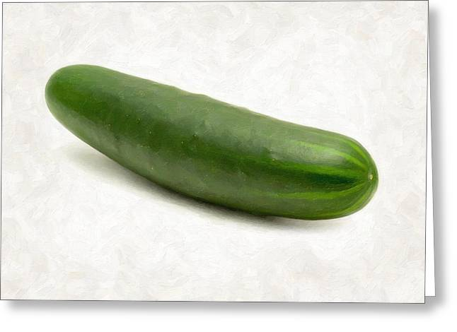 Cucumber Greeting Card by Danny Smythe