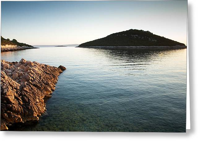 Greeting Card featuring the photograph Cunski Coastline At Sunrise by Ian Middleton
