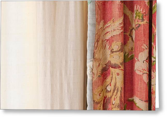 Curtains Greeting Card by Tom Gowanlock