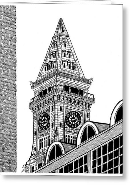 Custom House Tower - Boston Greeting Card